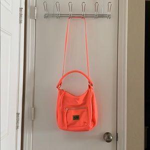 Neon pink H&M cross body bag